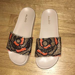 Aldo slide sandal with bead detailing